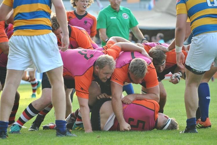 Terugkerend Nederland Studenten XV in slotfase verslagen door Haagsche Rugby Club